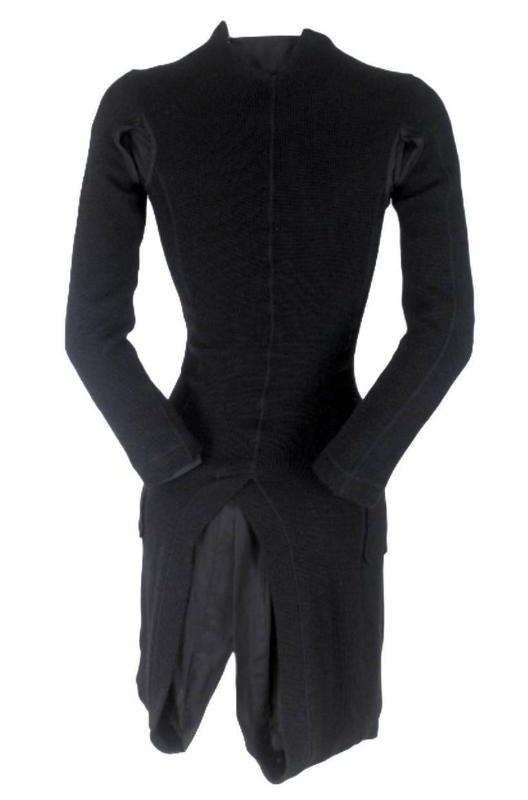 Junya Watanabe CDG 2007 Collection Loose Linning Wool Knit Dress For Sale 11