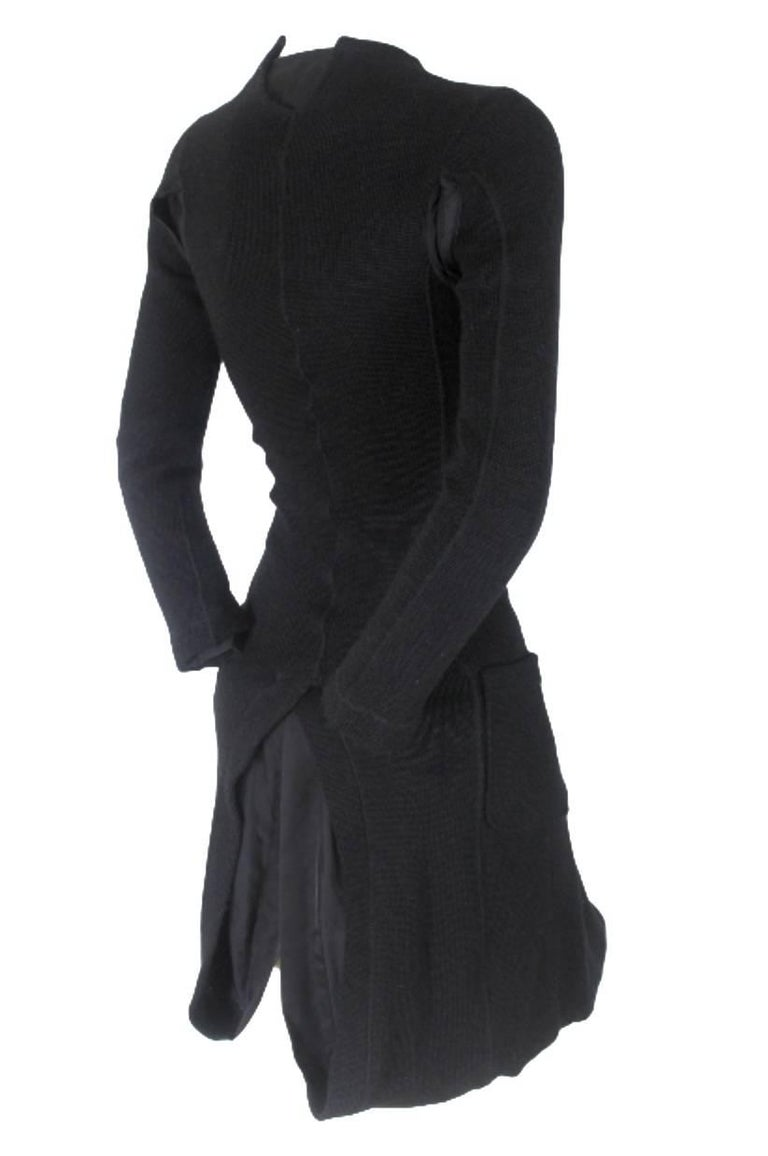 Junya Watanabe CDG 2007 Collection Loose Linning Wool Knit Dress For Sale 12