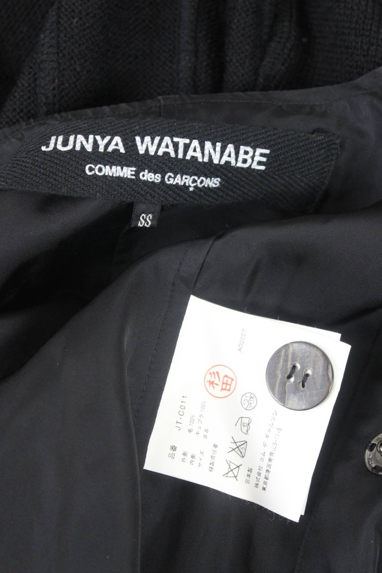 Junya Watanabe CDG 2007 Collection Loose Linning Wool Knit Dress For Sale 13