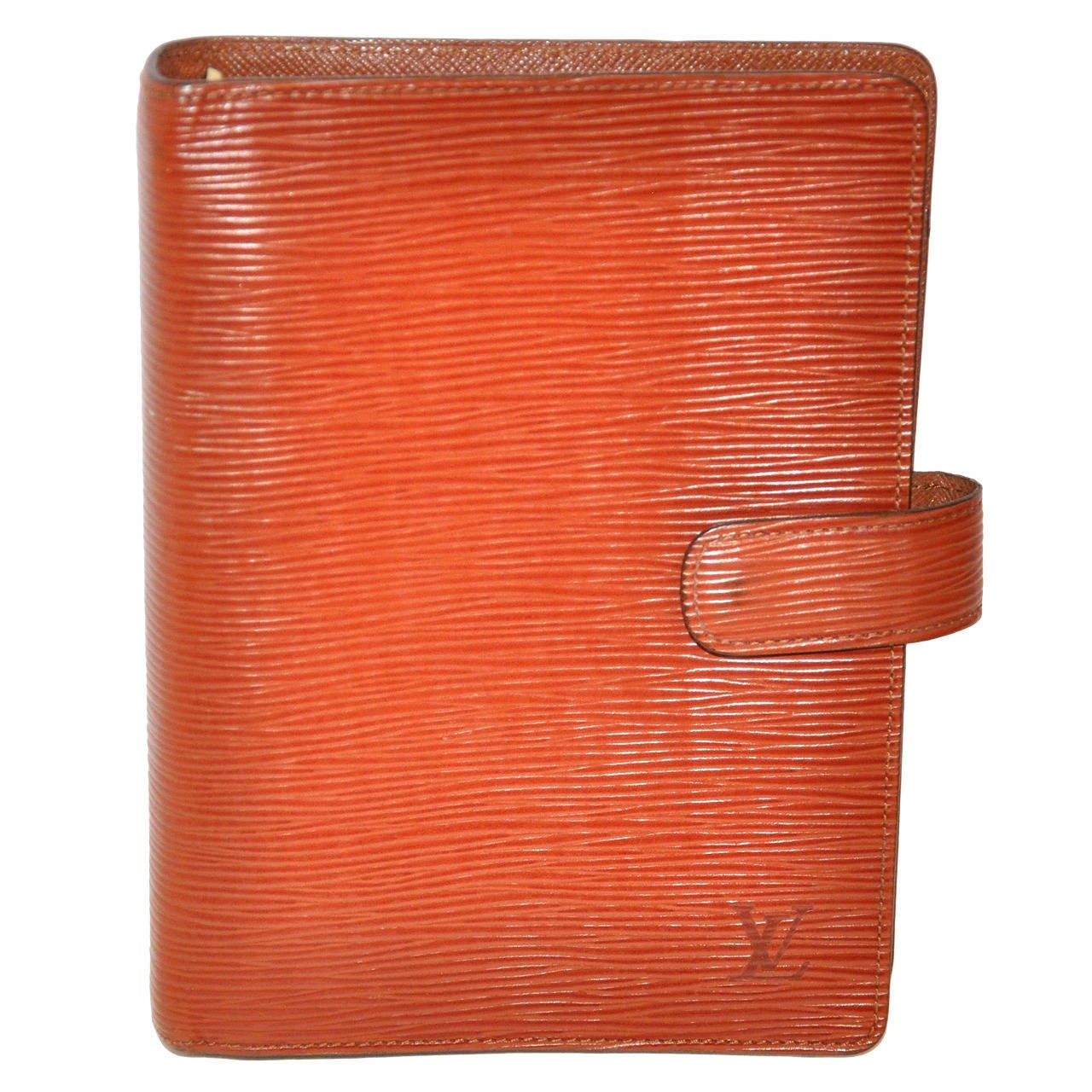 Louis Vuitton Textured Warm Brown Adjenda Notebook