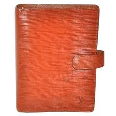 Louis Vuitton Textured Warm Brown Adjenda Notebook