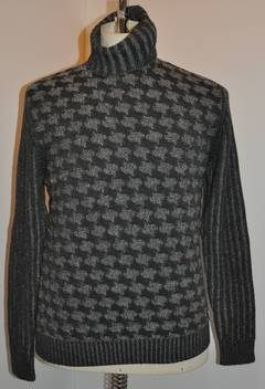 Dunhill Men's Pour Homme Multi-Pattern Gray High-Neck Pullover