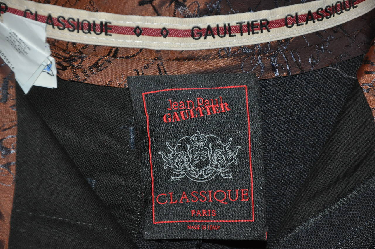 "Jean Paul Gaultier ""Classique"" Charcoal/Black Slim Trouser 4"
