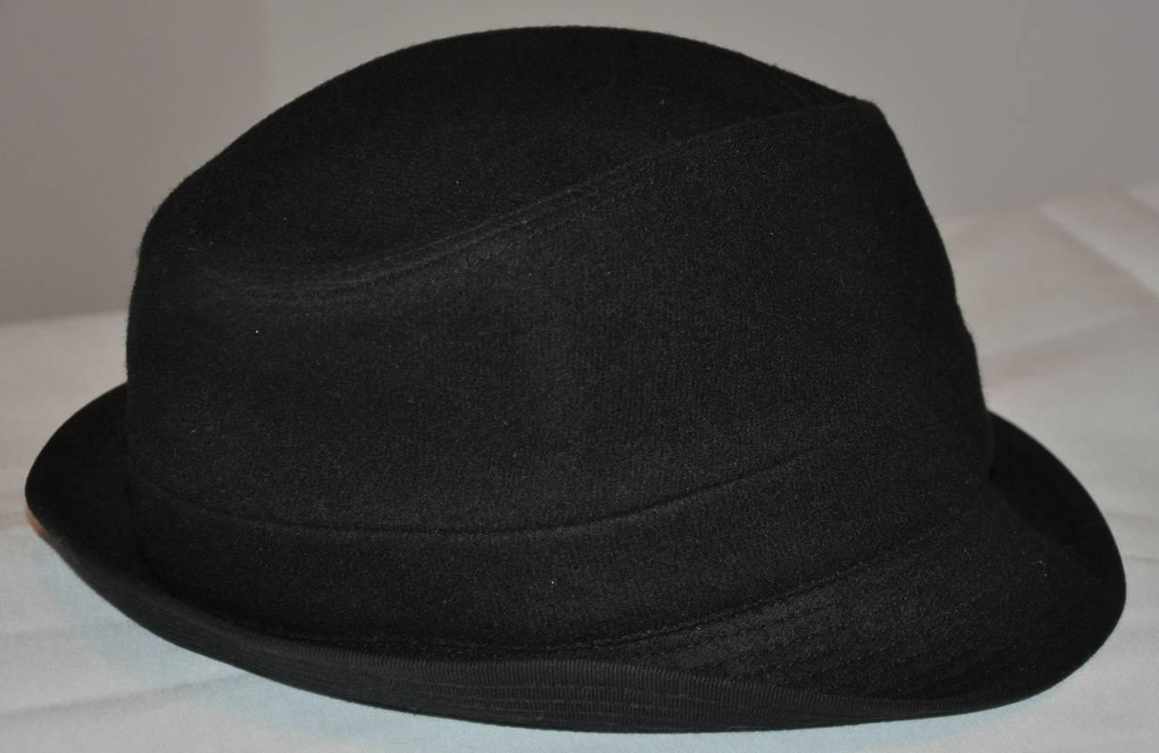 Women's or Men's Commes des Garcon Black Wool Fedora For Sale