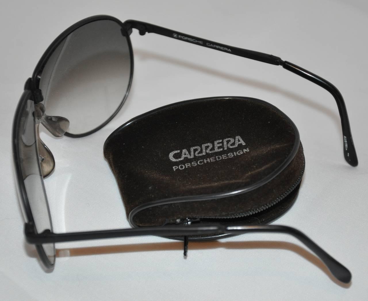 c1eba5b7083 Porsche Carrera Black Hardware Folding Sunglasses In Good Condition For  Sale In New York