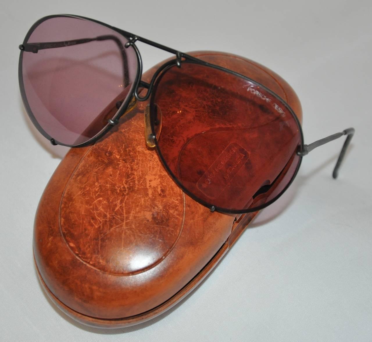 Porsche Double Lens Flip Feature Sunglasses For Sale at ...
