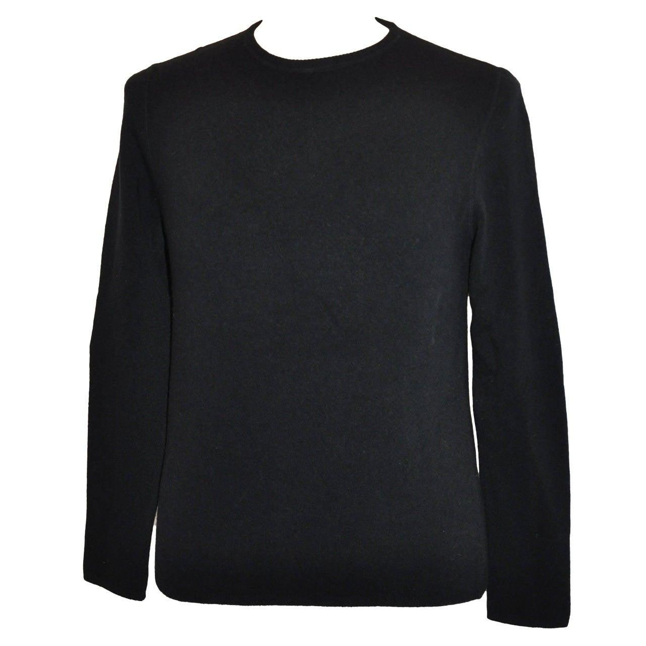 Prada Men's Black Crew Neck Pullover