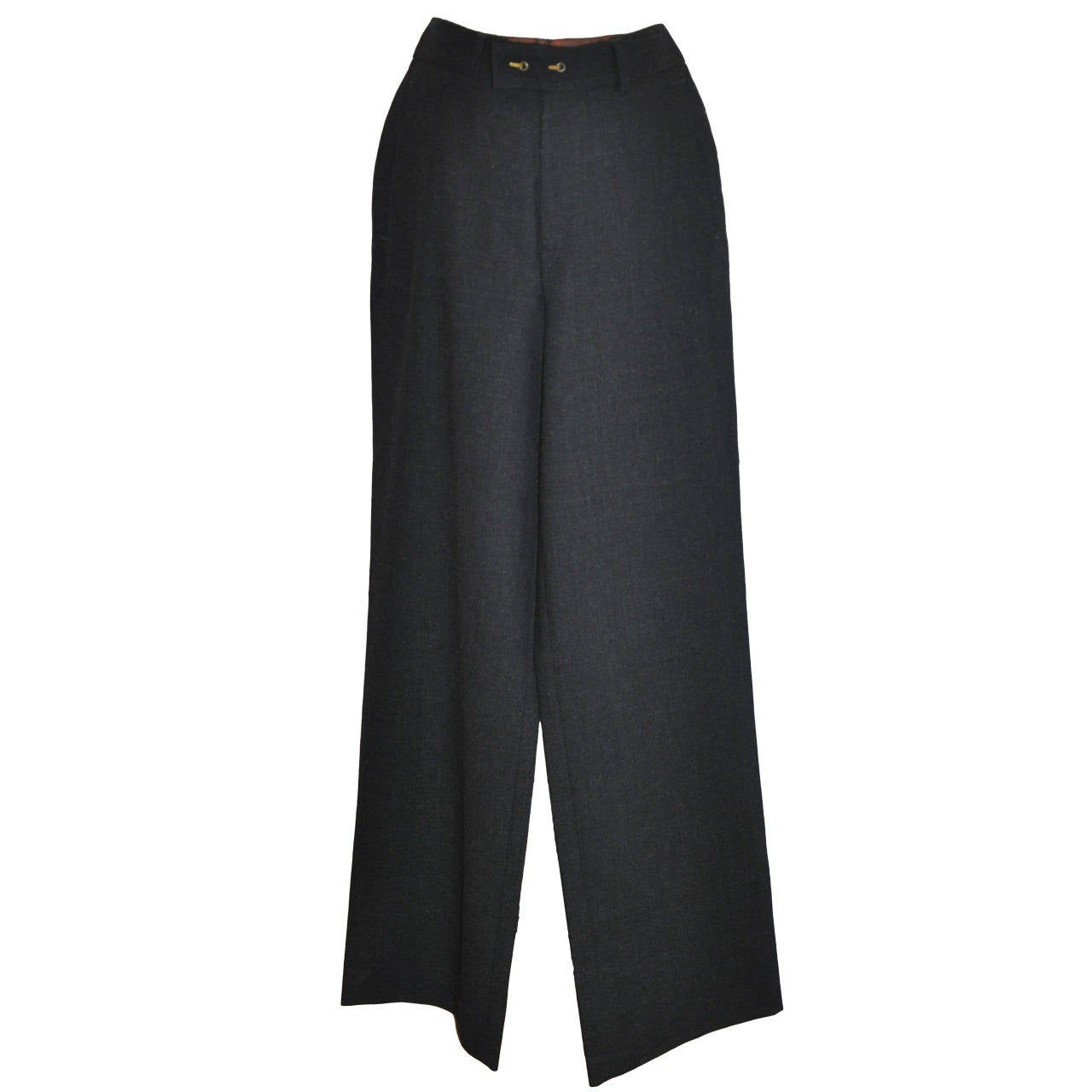 "Jean Paul Gaultier ""Classique"" Charcoal/Black Slim Trouser 1"