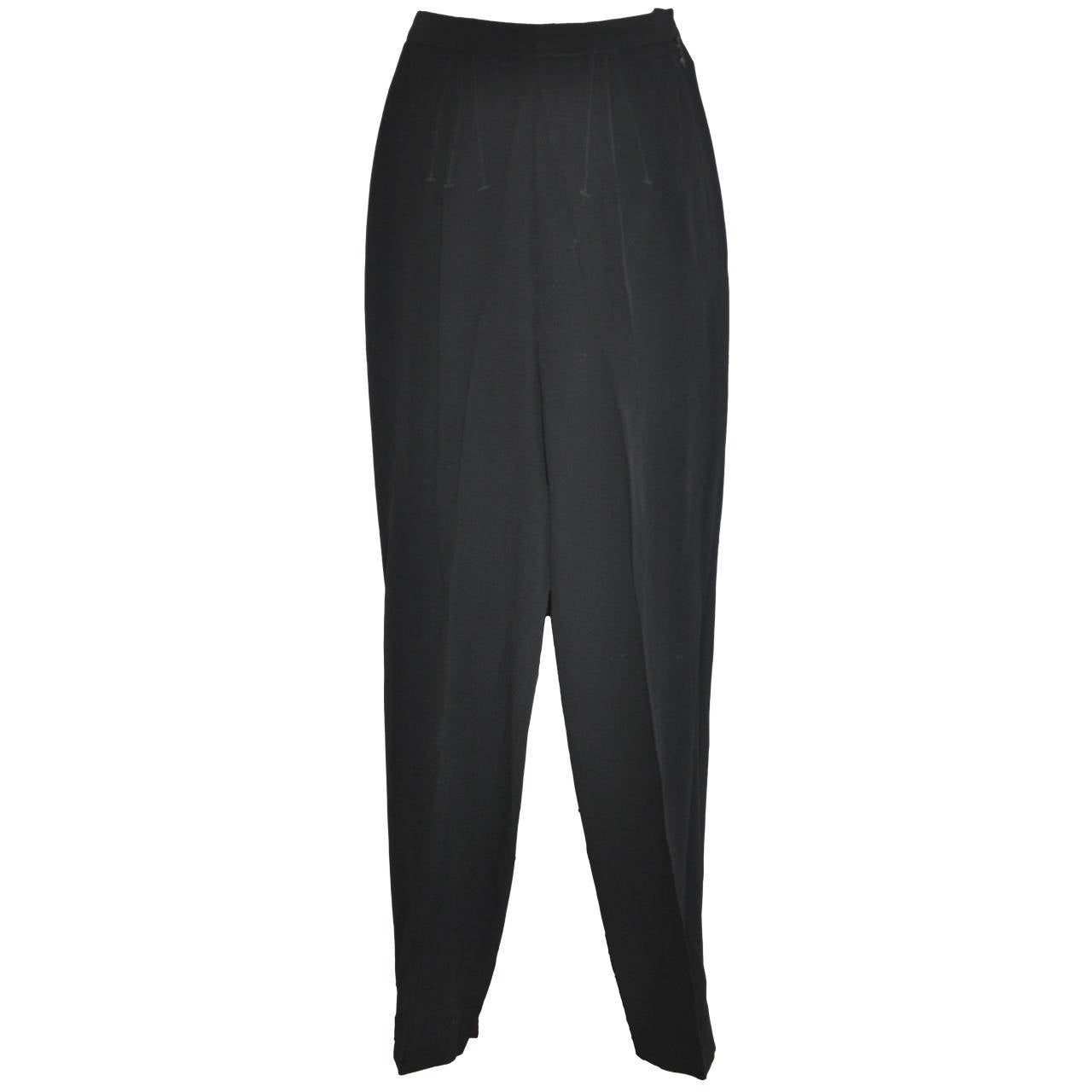 Jean Paul Gaultier Black Pencil Style Embroidered Detailing Trouser 1