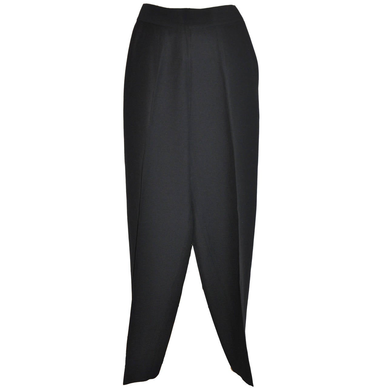 Moschino Black Slim Trouser
