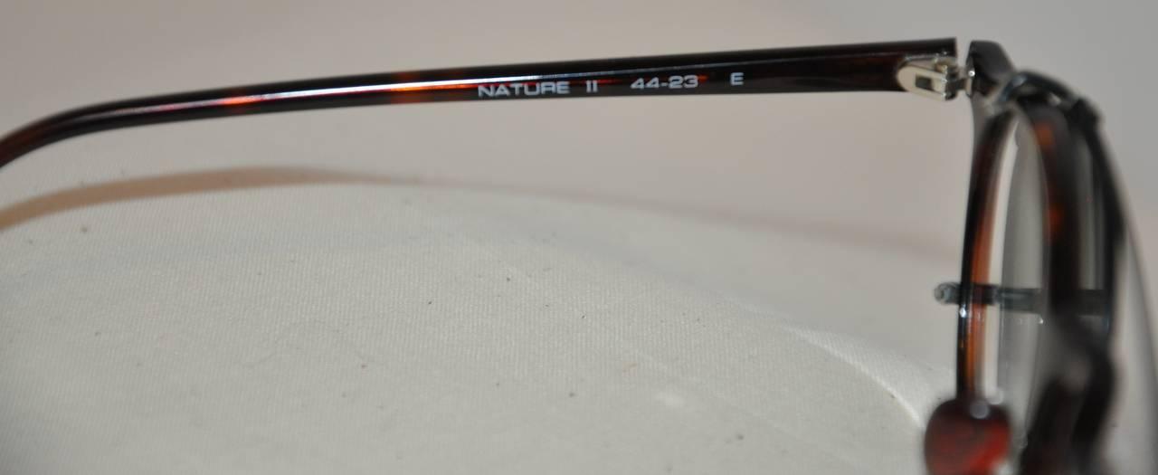"Poul Stig Tortoise Frame Eyeglasses with ""Clip On"" Black Hardware Frame Lens 4"