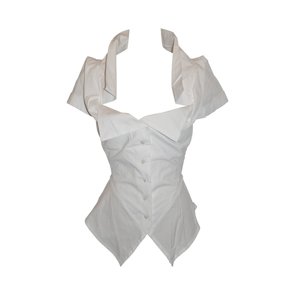 Vivienne Westwood White Deconstructed Top with Tags