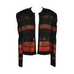 Granfranco Ferre for Martha Multi-Textured, Multi-Woven Cropped Jacket