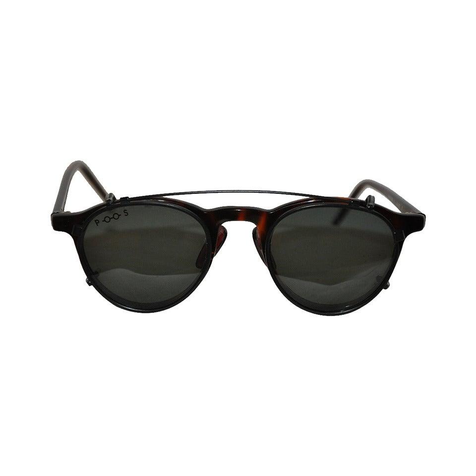 "Poul Stig Tortoise Frame Eyeglasses with ""Clip On"" Black Hardware Frame Lens 1"