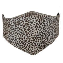 Ozbek Leopard Print Pony Corset Zipper Belt