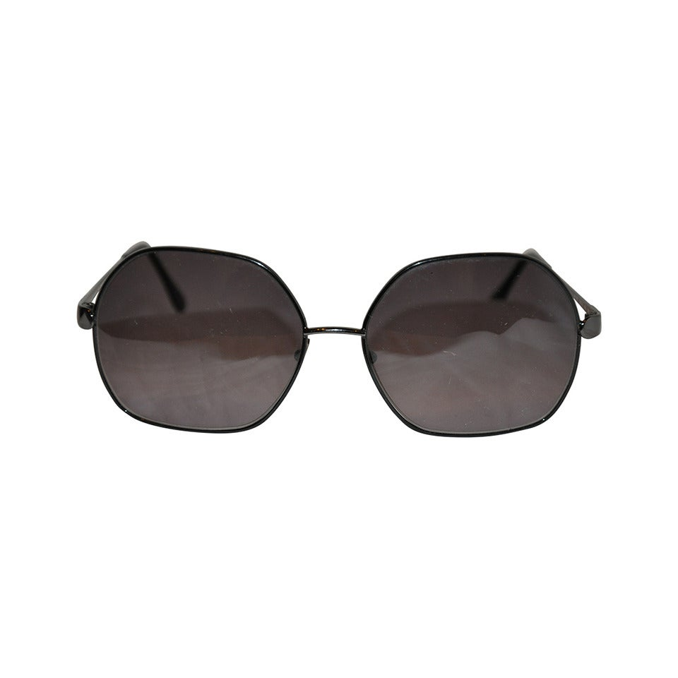 Emilio Pucci Black Hardware with Multi-Color Arms Sunglasses 1