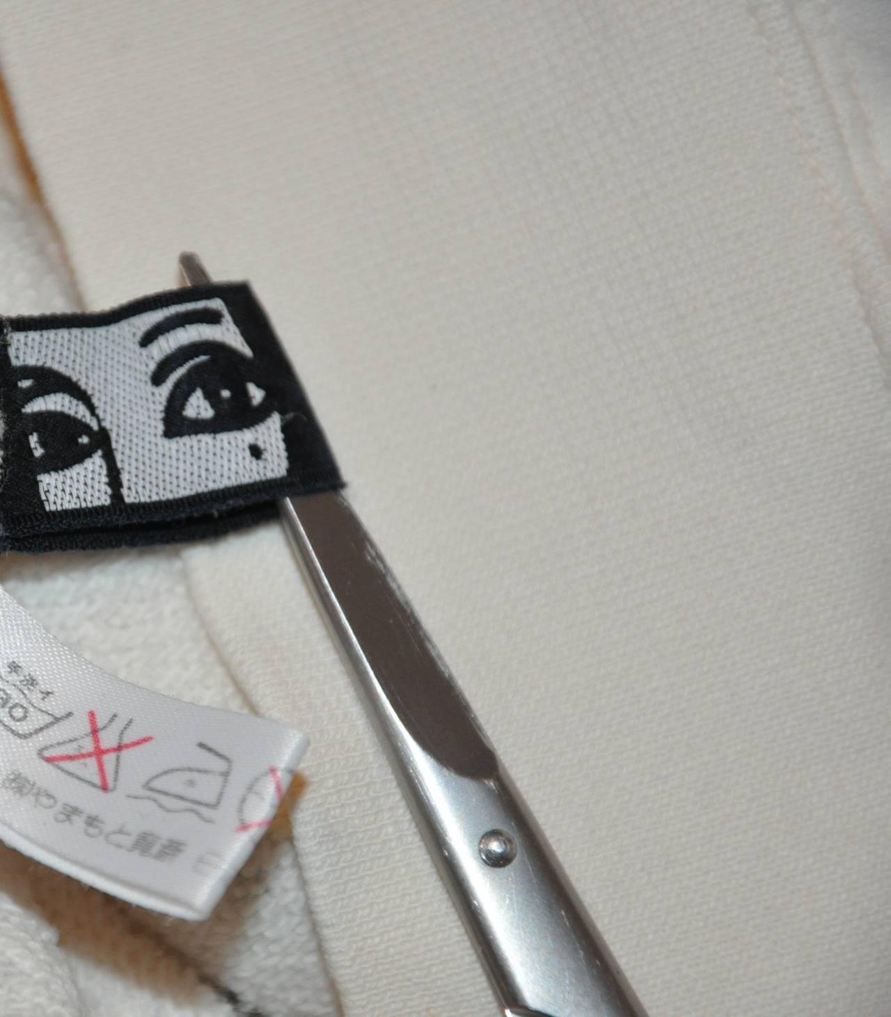 "Rare Yamamoto Kansai Bold ""Directions"" Block Print Boat-Neck Pullover 4"