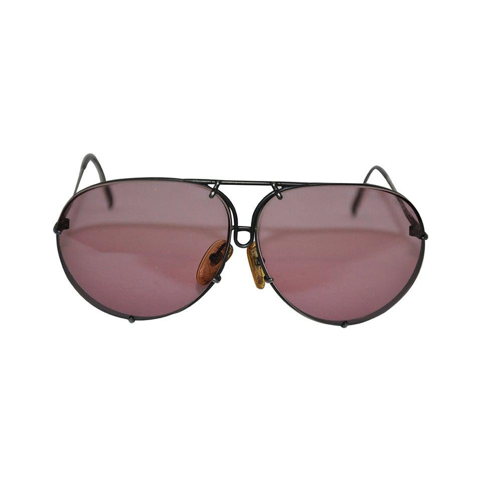 7626f684ca1c Porsche Double Lens Flip Feature Sunglasses For Sale at 1stdibs
