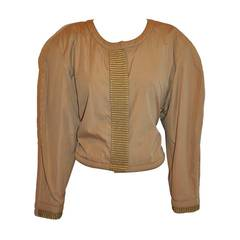 Callaghan Cropped Jacket with Detailed Gold Lame Accents