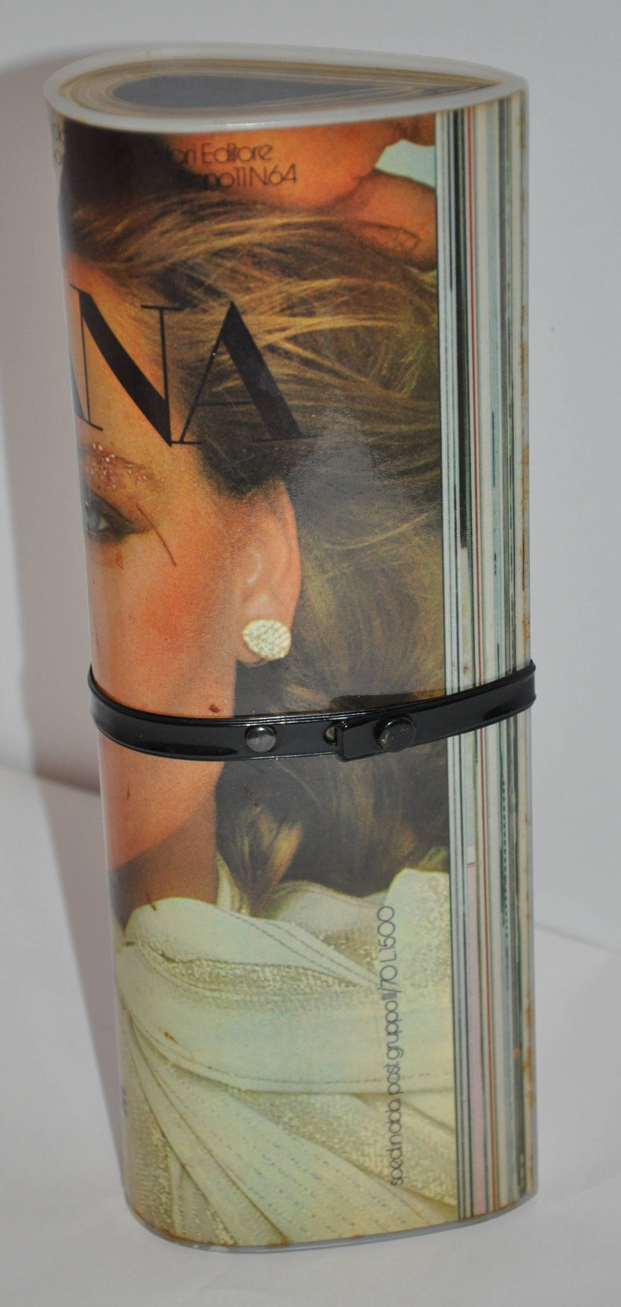 "Beige Rare Janda ""European Fashion Magazine"" Clutch For Sale"