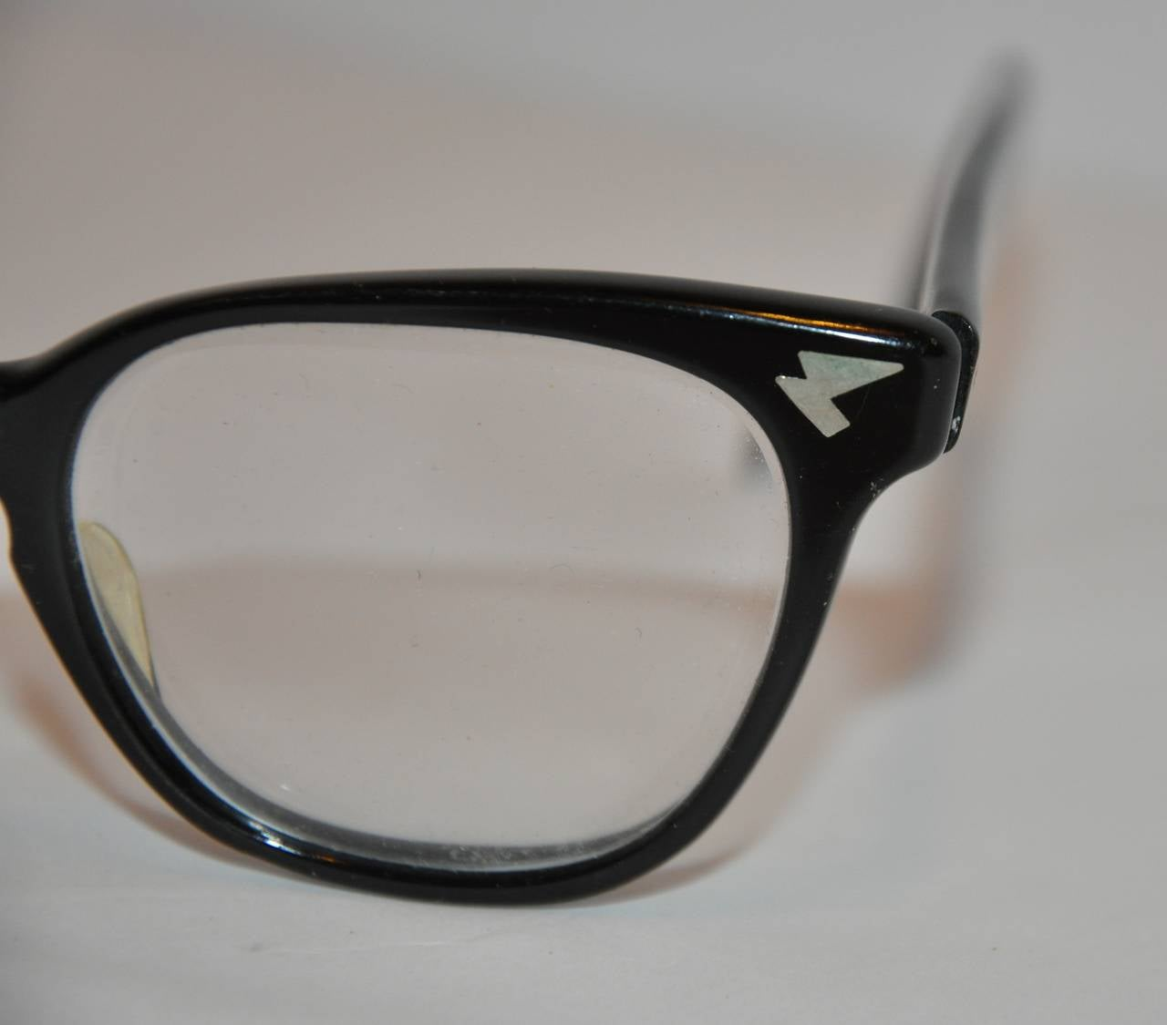 Glasses Frames Thick Black : Raybert Thick Black Lucite Frame with Detailed Corners ...