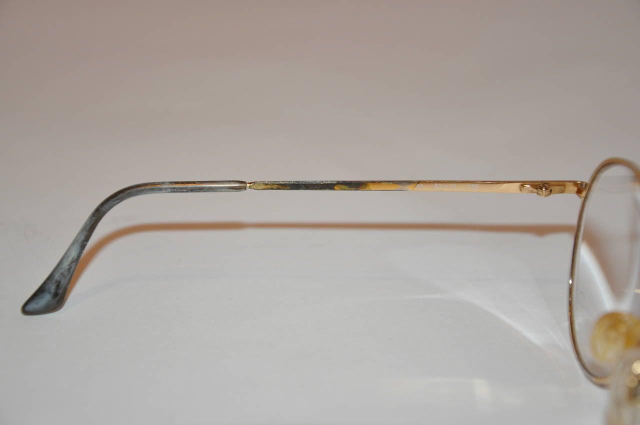 Yves Saint Laurent Multi-Red & Black Front Gold Hardware Frame Glasses 5