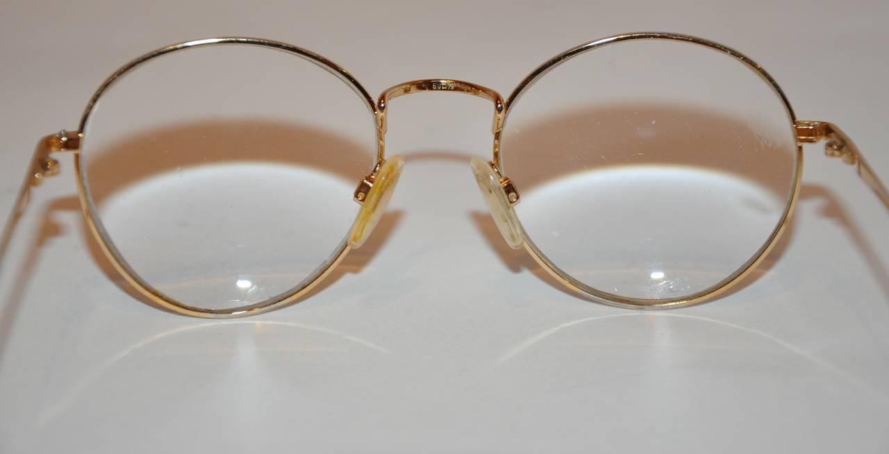 Yves Saint Laurent Multi-Red & Black Front Gold Hardware Frame Glasses 6