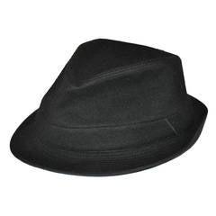 Commes des Garcon Black Wool Fedora