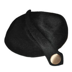 Mr. John Classic Black Detailed Cloche