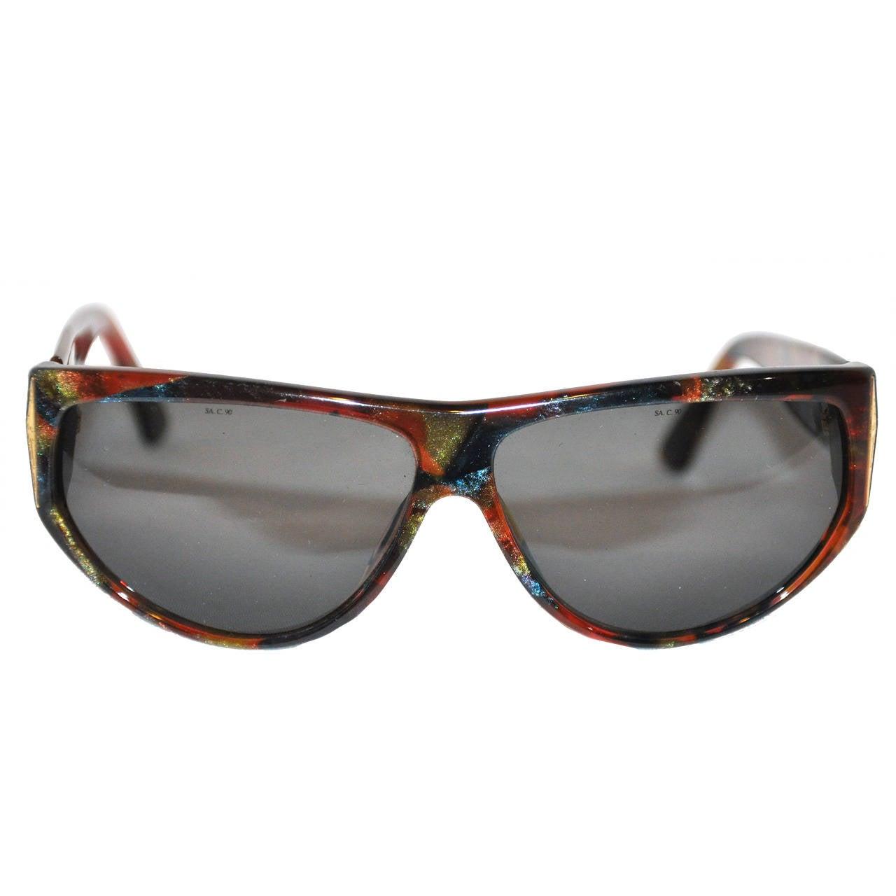 Laura Biagitti Multi-Color Lucite Sunglasses