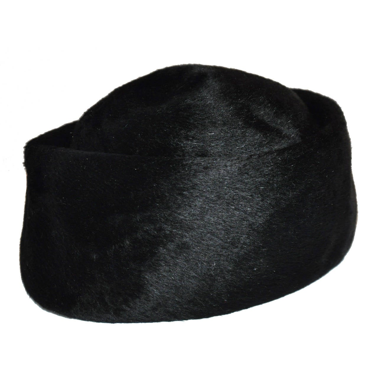 "Miss Dior ""Brigitte"" Black Felt Hat"