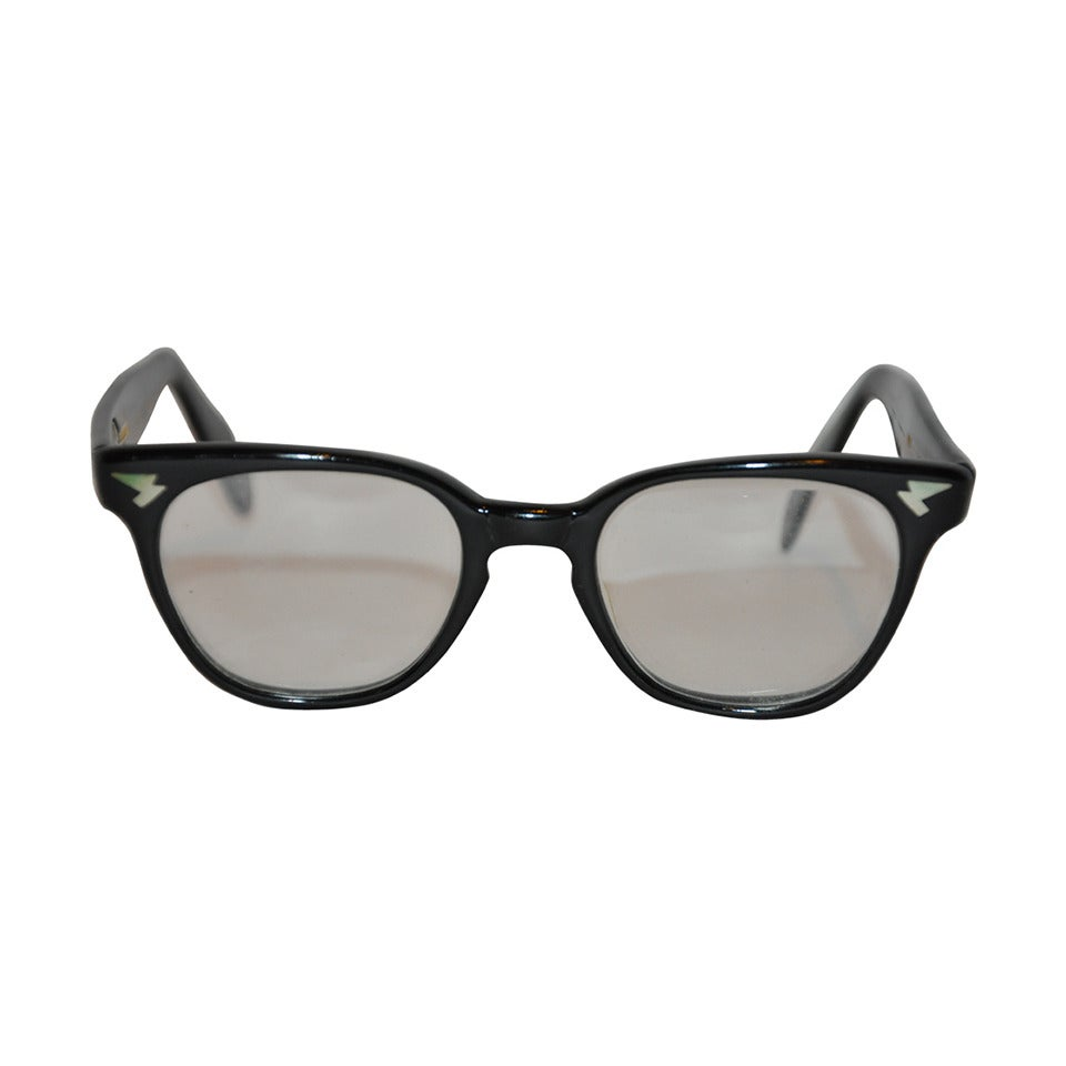 Thick Frame Glasses Black : Raybert Thick Black Lucite Frame with Detailed Corners ...