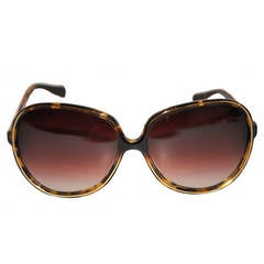 "Oliver People ""Sofiane"" Tortoise Shell Sunglasses"