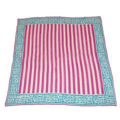 Anne Klein Lavender Stripe Silk Scarf