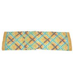 Multi-Color Plaid Silk Scarf
