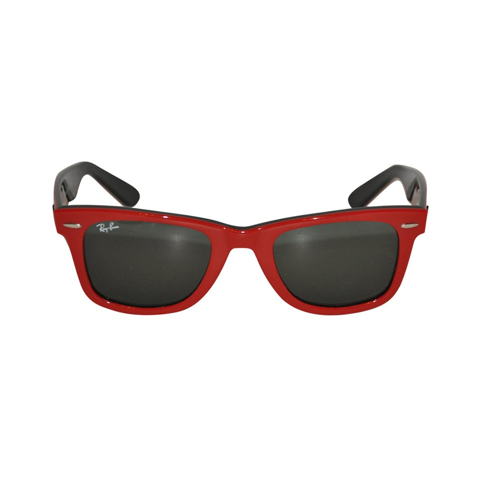 Ray-Ban Thick Red & Black Lucite Sunglasses 1