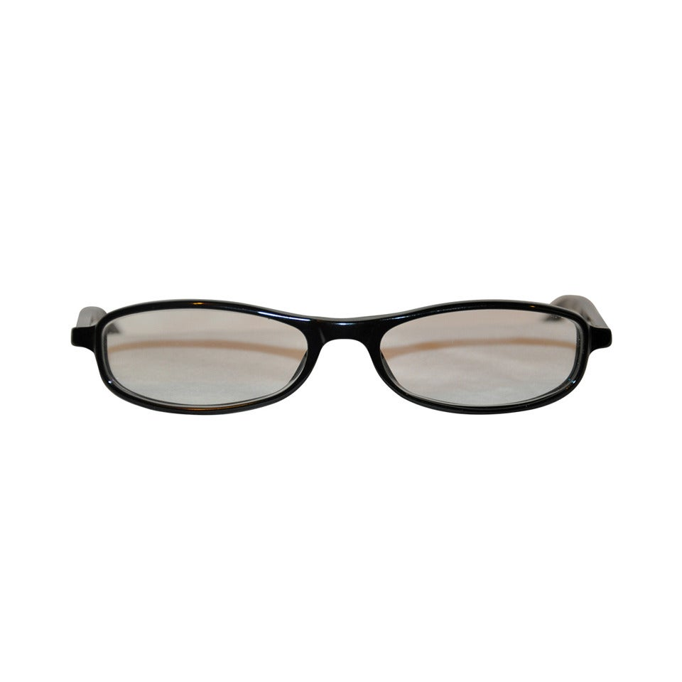 7a76ca72ee Gucci Black Lucite with Silver Hardware Glasses For Sale at 1stdibs