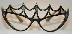 """Vintage One-Of-A-Kind """"Peggy Guggenheim"""" Style Masquerade Frames"""