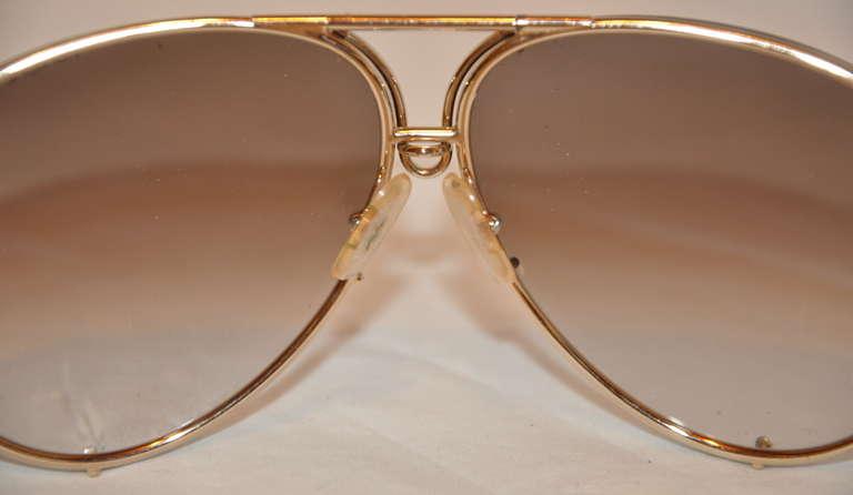 "Women's or Men's Porsche Design ""Carrera"" 18k Frames with Two Extra Lenses For Sale"