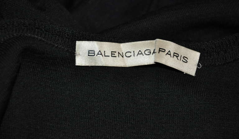 Balenciaga Black Top with Woven Lace Neckline Top 4