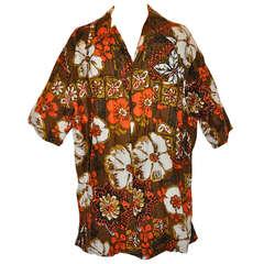 Jantzen Men's Hawaiian Print Shirt