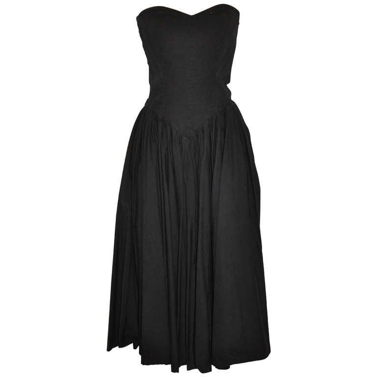 Norma Kamali Black Strapless Dress