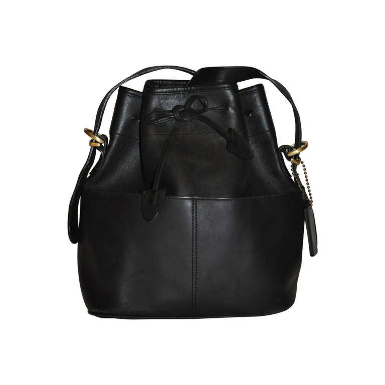 Coach Black Calfskin Hobo Drawstring with Detachable Straps Bag 1