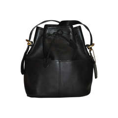 Coach Black Calfskin Hobo Drawstring with Detachable Straps Bag