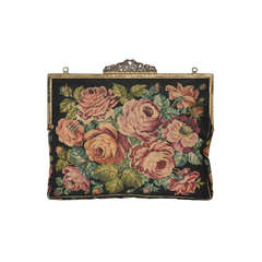 Jolles Original Micro Micro Needlepoint Tapertry of Roses Handbag