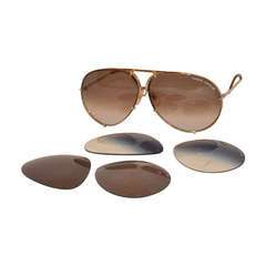 "Porsche Design ""Carrera"" 18k Frames with Two Extra Lenses"