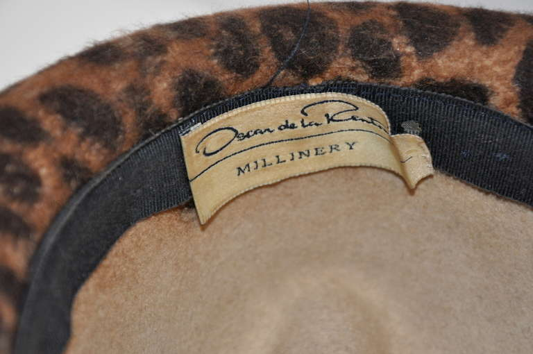 This wonderfully leopard-print wool felt hat from Oscar de la Renta  measures 5 1 3e08d6624c3