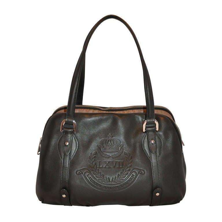 968f7c3e5f6 Ralph Lauren Black Calfskin 3-Sectional Tote Handbag at 1stdibs