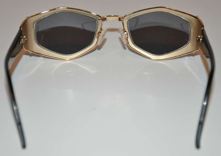3a67ec800b Women s Cazal Gilded Gold Hardware with Leopard Print Sunglasses For Sale