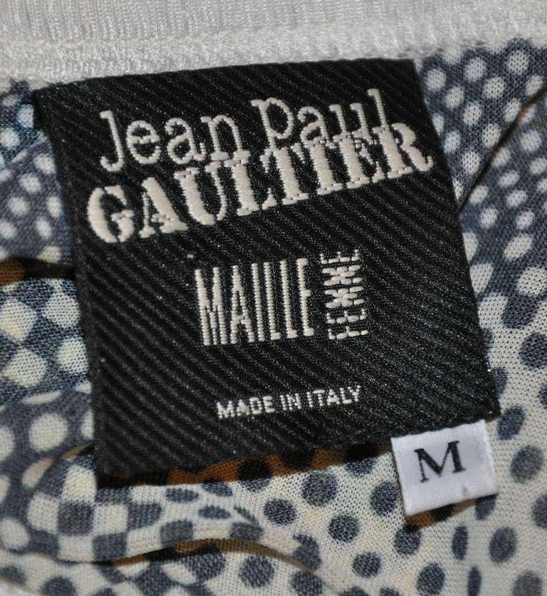 Black Jean Paul Gaultier Maille 'Tie Neck' Top For Sale